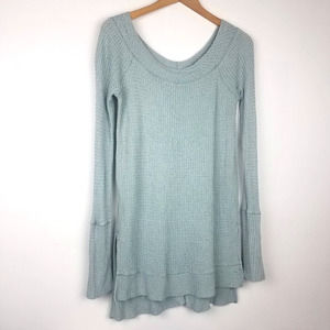 Free People    Thermal Long Sleeve Gray Blue M